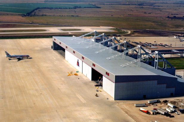 American Airlines Wide-Body Maintenance Facility Aerial