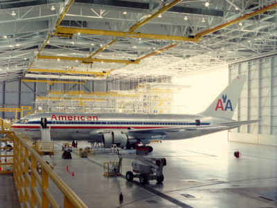 American Airlines Wide-Body Maintenance Facility Interior