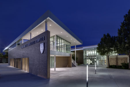 Bishop Lynch HS Expansion Exterior, Night