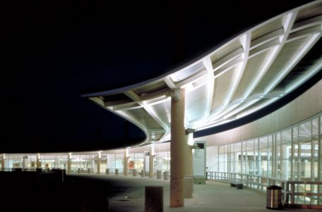 DFW Airport Consolidated Rent-a-Car Facility Night
