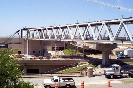 DFW Airport Terminal A/B Pedestrian Skybridge Construction