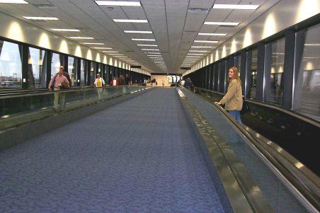DFW Airport Terminal A/B Pedestrian Skybridge Interior