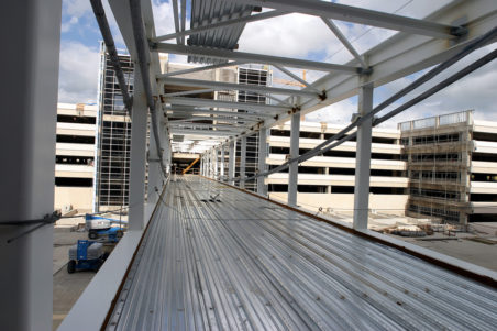 DFW Airport Terminal C/D Pedestrian Skybridge Construction