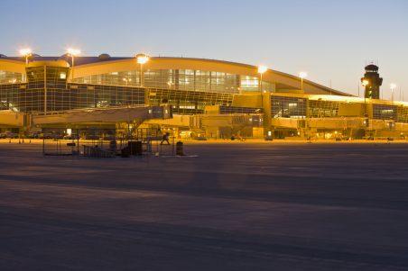 D/FW Airport Terminal D Gates - Night