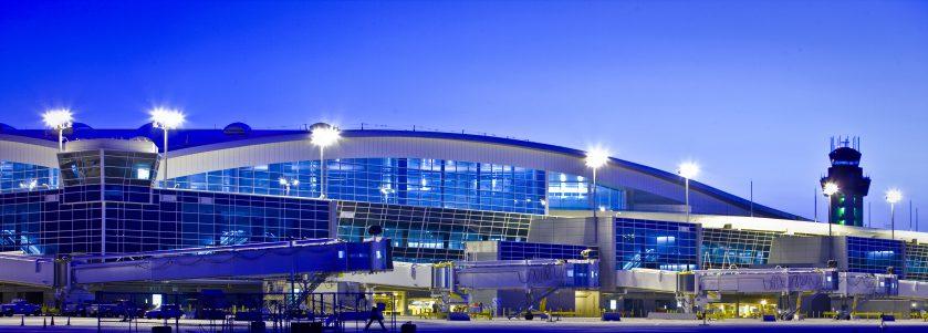 D/FW Airport Terminal D Panorama Night