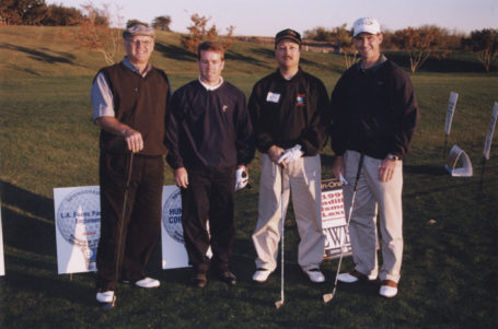 Larry Fuess, Thom Campbell, Jon Herrin, and Alan Owen Golfing, ca. 1999