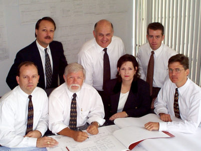 Larry Fuess with L.A. Fuess Partners Principals, ca. 1998