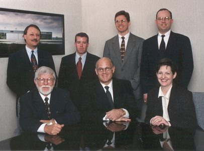 Larry Fuess with L.A. Fuess Partners Principals, ca. 1999