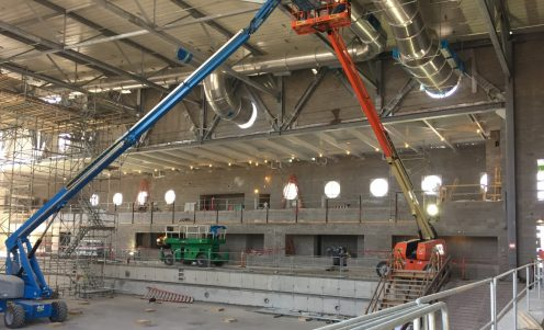 SMU Aquatics Center - Construction - Interior