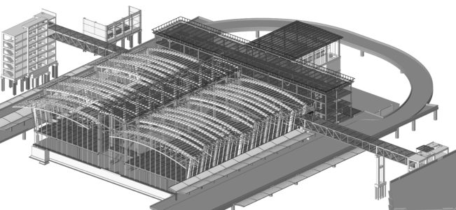Sacramento International Airport Central Terminal B BIM Revit