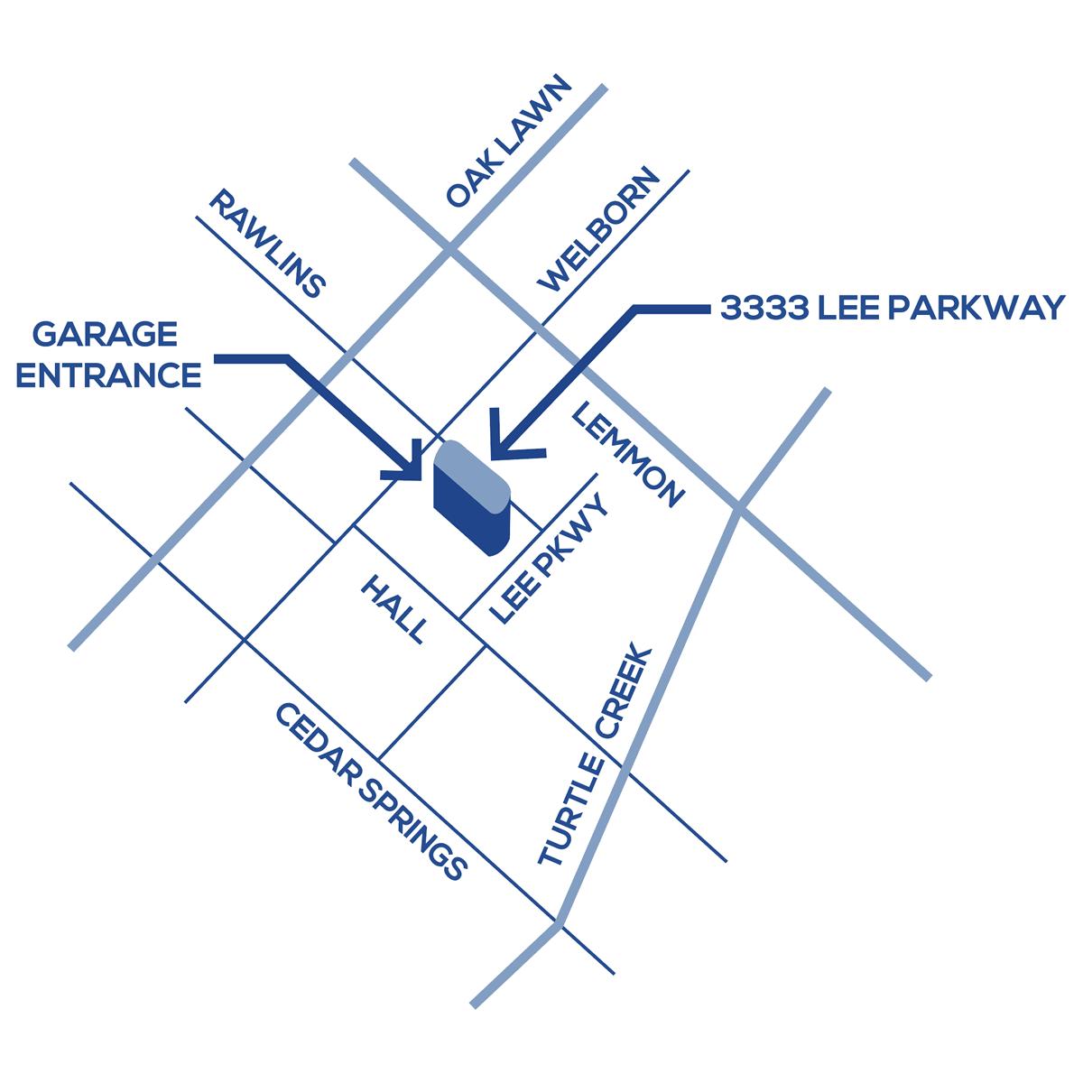 L.A. Fuess Dallas Parking Map